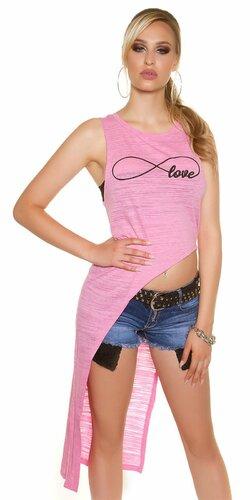 Dámske tričko ,,infinite love,, | Ružová