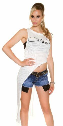 Dámske tričko ,,infinite love,, | Biela