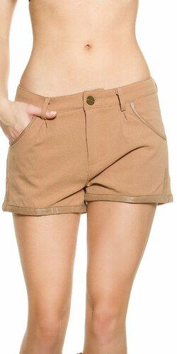 KouCla dámske šortky | Karamelová