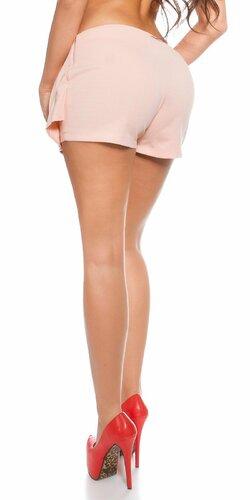 Dámske šortky ,,vzhľad sukne,, Marhuľová