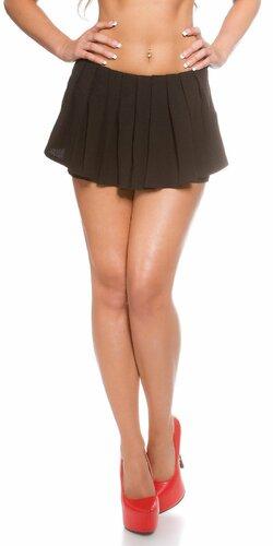 Dámske šortky ,,vzhľad sukne,, | Čierna