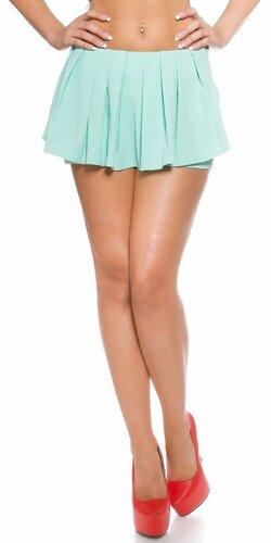 Dámske šortky ,,vzhľad sukne,, | Mintová