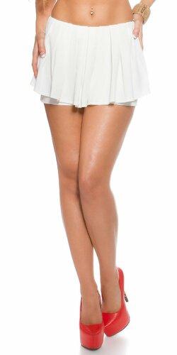 Dámske šortky ,,vzhľad sukne,, | Biela