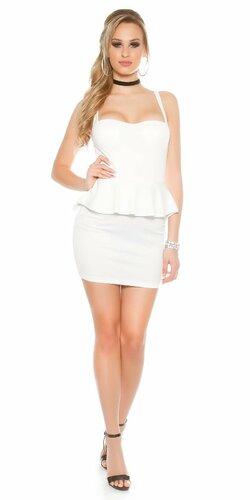 Dámske štýlové mini šaty KouCla | Biela