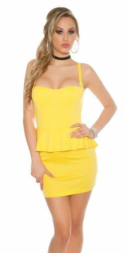 Dámske štýlové mini šaty KouCla | Žltá