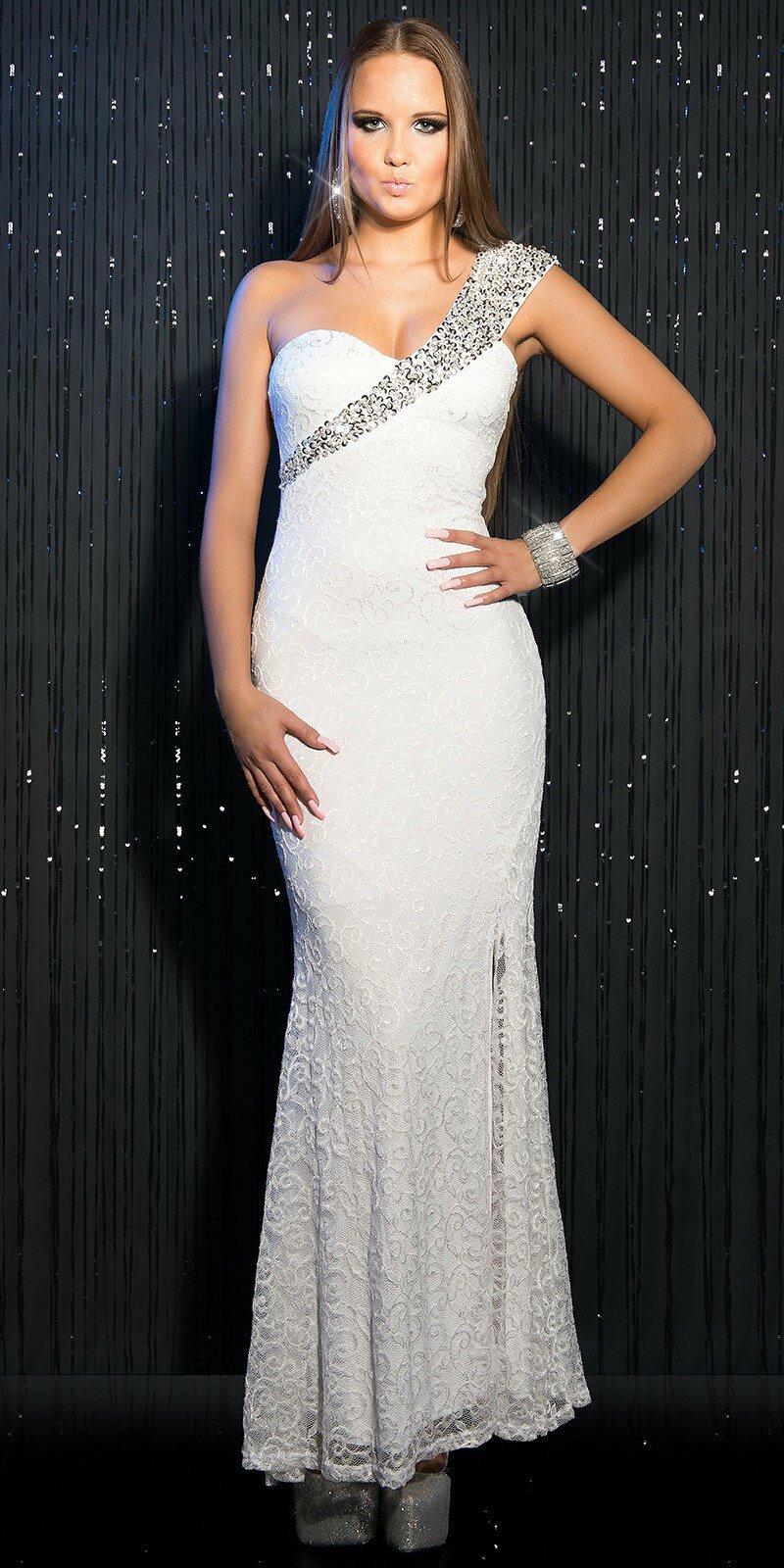 eb36fd41f4 Dámske štýlové maxi šaty KouCla  Veľkosť L Farba Biela