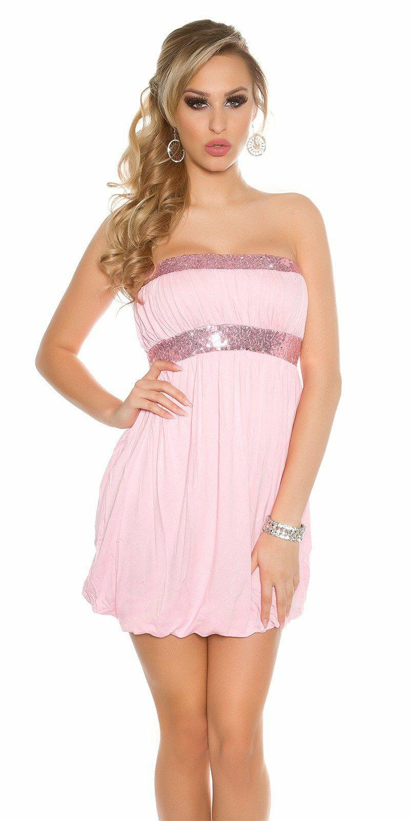 6ea1916b1dad Dámske krátke letné mini šaty  Veľkosť S Farba Bledá ružová