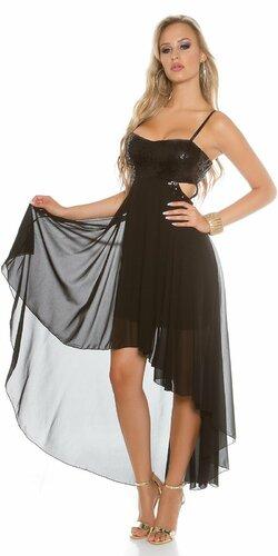 Dámske šaty na ramienka KouCla (Čierna)
