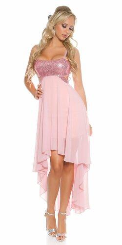 Dámske šaty na ramienka KouCla (Bledá ružová)