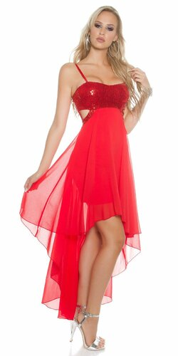 Dámske šaty na ramienka KouCla (Červená)