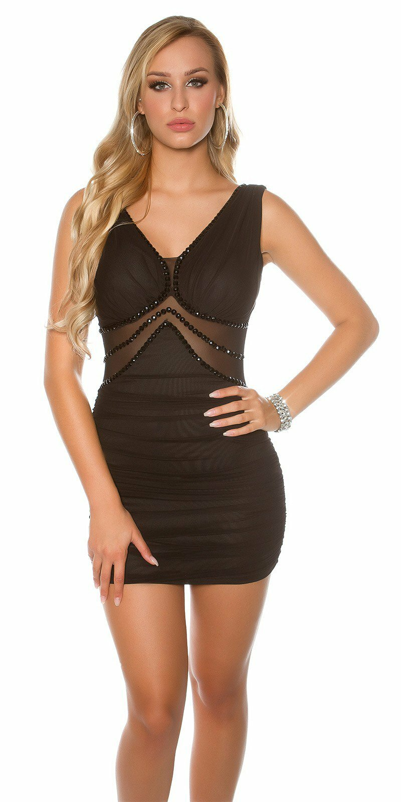 59d079ea4645 Čierne mini šaty KouCla  Veľkosť Univerzálna (XS S M) Farba Čierna