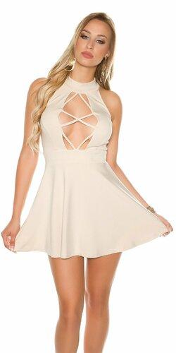 Sexy mini šaty | Béžová