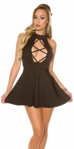 Sexy čierne mini šaty