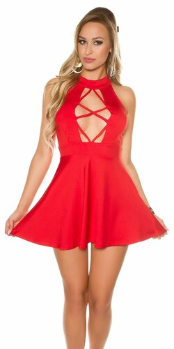 Sexy mini šaty | Červená