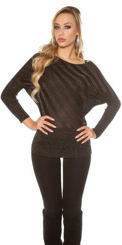 Lesklý sveter ležérneho strihu