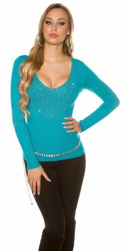 Dámsky ,,party,, kamienkový sveter | Zafírová