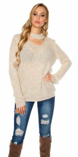 Pletený sveter s angorskou vlnou | Béžová