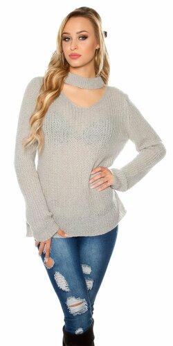 Pletený sveter s angorskou vlnou | Šedá