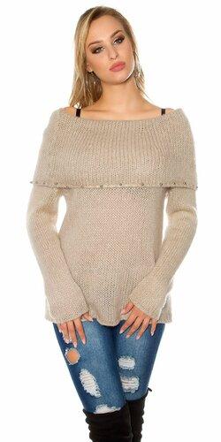 Ležérny sveter s angorskou vlnou | Béžová