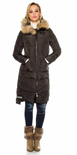 Dlhá zimná bunda (Čierna)