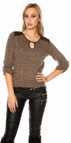 Staromódny pulóver | Hnedá