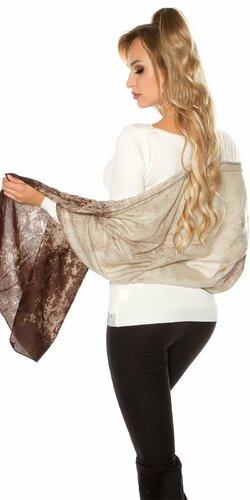 Dámsky rafinovaný šál | Hnedá