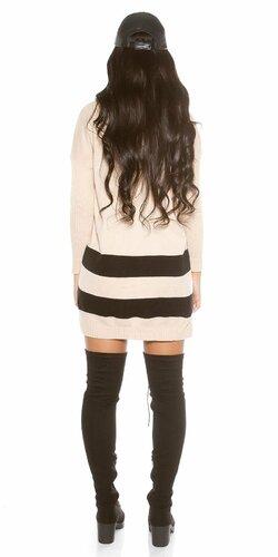Oversize sveter s kapucňou Béžová