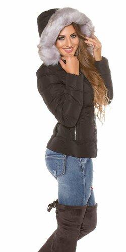 Dámska zimná bomber bunda | Čierna