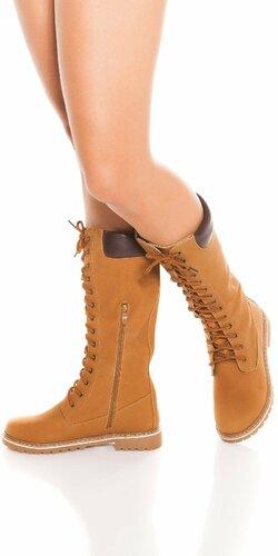 Dámske topánky so zipsom a šnurovaním