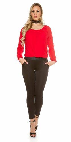 Elegantný dámsky blúzkový overal | Červená