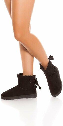 Zimné členkové topánky Čierna