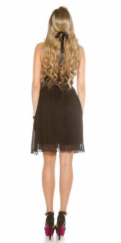 Dámske flitrované koktejlové šaty Čierna