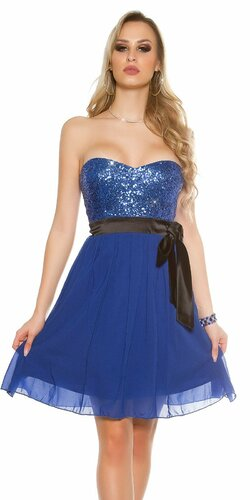 Dámske flitrované koktejlové šaty Modrá