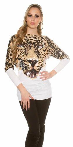 Dámsky leopardí sveter KouCla