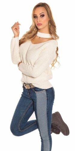 Pletený sveter KouCla | Béžová