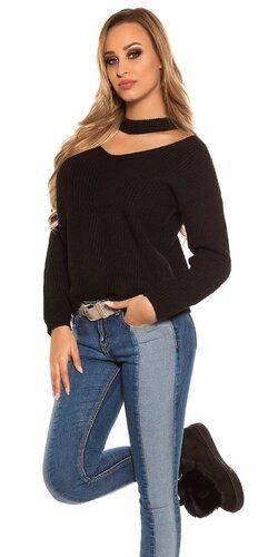 Pletený sveter KouCla Čierna