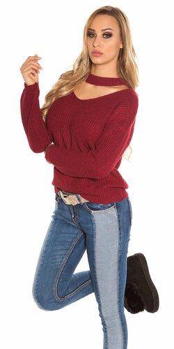 Pletený sveter KouCla | Bordová
