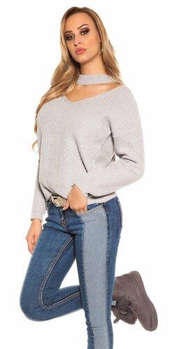 Pletený sveter KouCla | Šedá