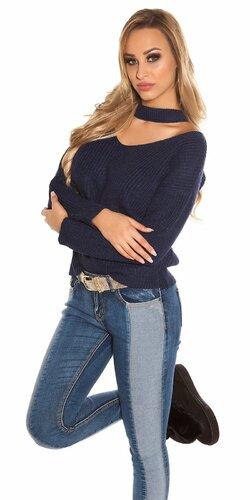 Pletený sveter KouCla | Tmavomodrá
