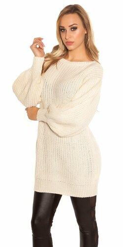 Dlhý sveter s voľnými rukávmi | Béžová