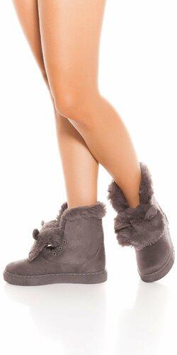 Zimné topánky s uškami | Šedá