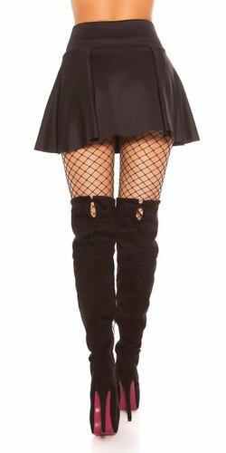 Áčková sukňa Čierna