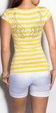 Dámske Prúžkované tričko Žltá