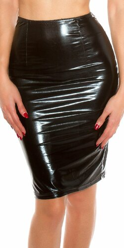 Koucla sukňa ,,latex look,,