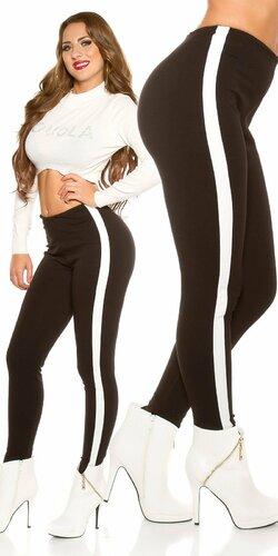 Nohavice s elastickým pásom | Čierna
