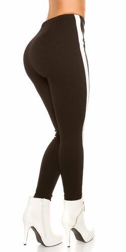 Nohavice s elastickým pásom Čierna