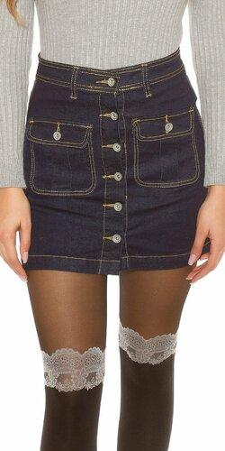 Áčková džínsová sukňa