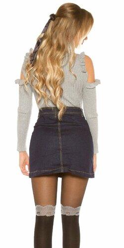 Áčková džínsová sukňa Modrá