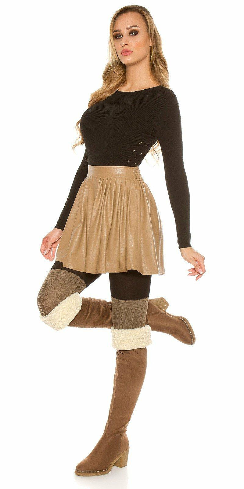 1bece06cdb60 Nariasená sukňa koženého vzhľadu - NajlepsiaModa.sk