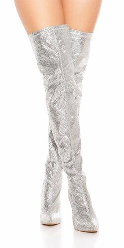 Trblietavé čižmy nad kolená